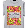 colorful bananas printing rock band velvet underground vintage t shirt man woman asia size simple design