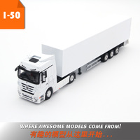 Alloy Toy Model Gift 1:50 Scale MERCEDES BENZ Container Truck Tractor Trailer Vehicles Toy Model For Collection Decoration