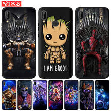 Funda per Huawei Mate 20 10 P30 P20 P10 P9 P8 Lite Pro 2017 P Smart 2019 Cover Cover pantera nera Marvel Deadpool Thanos conchiglie(China)