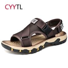 CYYTL/мужские сандалии; Новинка года; летняя уличная дышащая обувь; пляжные вьетнамки; повседневные пляжные шлепанцы; Sandalias Hombre