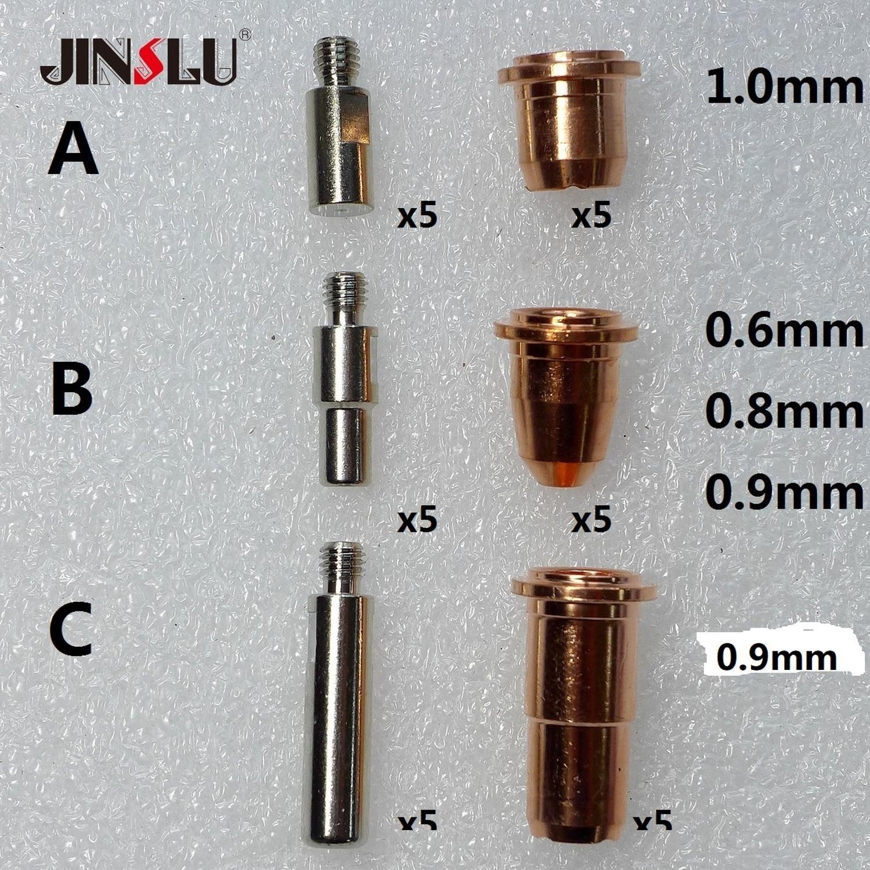 PT-40 PT 40 IPT-40 PT-60 PT 60 IPT-60 PD0116 5pcs + PR0110 5pcs Hafnium OEM S45 CUT55 Plasma Tip Tips Electrode