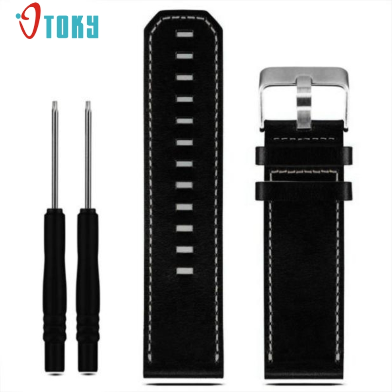 Excellent Quality Luxury Leather Strap Replacement Watch Band Strap With 2pc Screwdriver Tools For Garmin Fenix