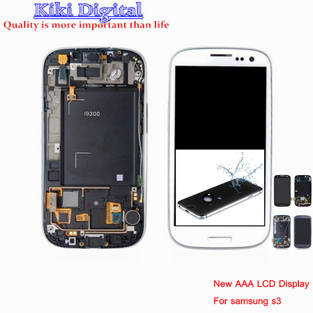 New Original LCD For Samsung Galaxy S3 i9300 i9305 i747 T999 i535 LCD Display Touch Screen Digitizer Assembly with Frame