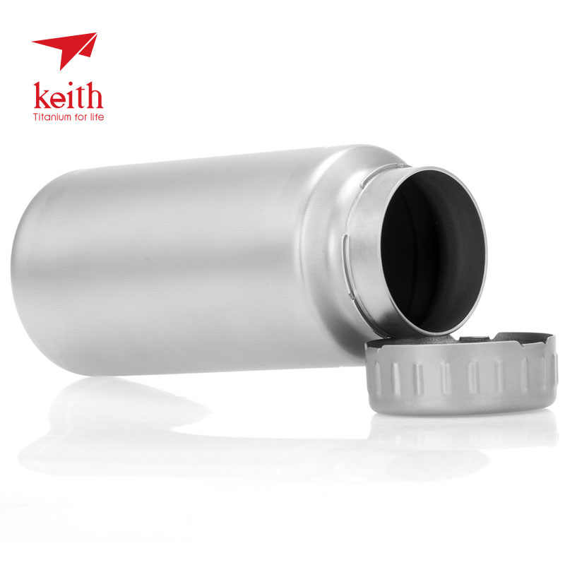 84165d1432cf Keith 900ml/1.2L Titanium Water Bottle Outdoor Sports Large Capacity  Wide-mouth Flask with Lid Cycling Drinking Flask Pot Ti3035