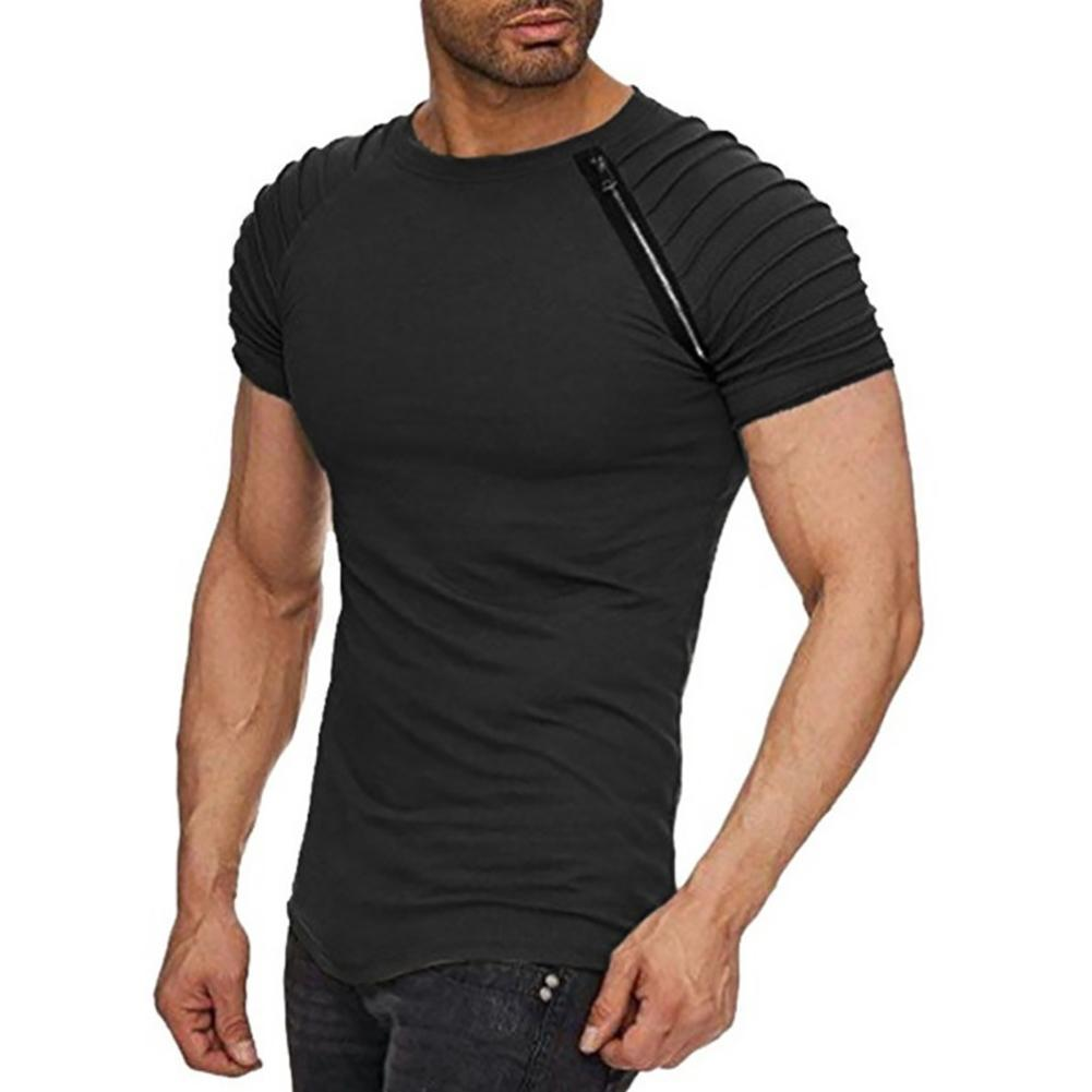 Men Stripes T-Shirts Short Sleeve Casual Crew Neck Slim Fit Tees Outfits Top