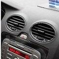 Pegatinas de fibra de carbono para sistemas de ventilación de aire acondicionado de fibra de carbono pegatina Para Ford Focus mk2.5 mk2 (2009-2011)
