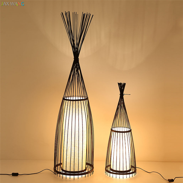 jw_southeast asia japanese lantern handmade bamboo floor lamps solid standing lights for living room study bedroom - Standing Lights For Living Room