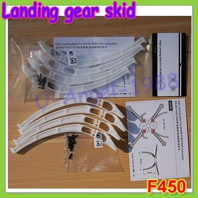 4pcs sets universal Tall Landing gear skids for DJI F450 F550 SK480 FPV aerial photo Wholesale