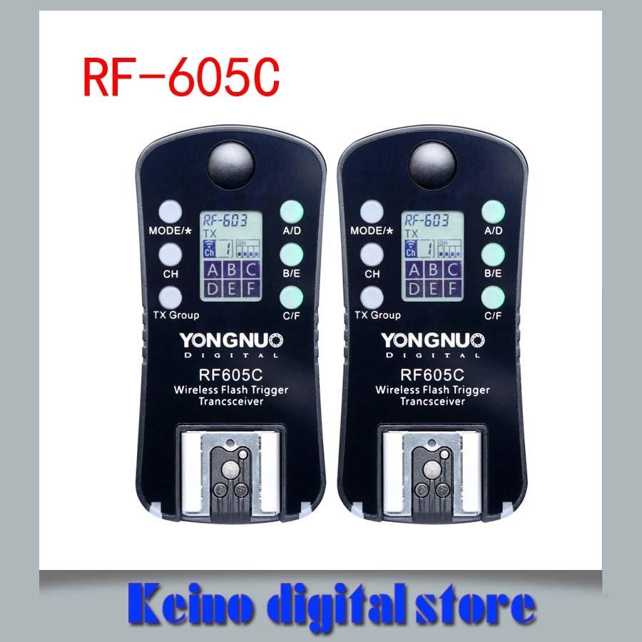 YONGNUO RF 605C RF605C RF 605C RF605 C Wireless Flash Trigger for Can n upgrade version