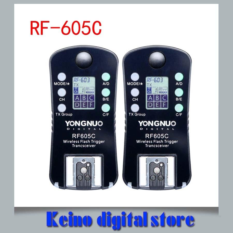 YONGNUO RF 605C RF605C RF 605C RF605 C Draadloze Flash Trigger voor Kan & n upgrade versie van RF 603 II-in Ontspanknop van Consumentenelektronica op  Groep 1