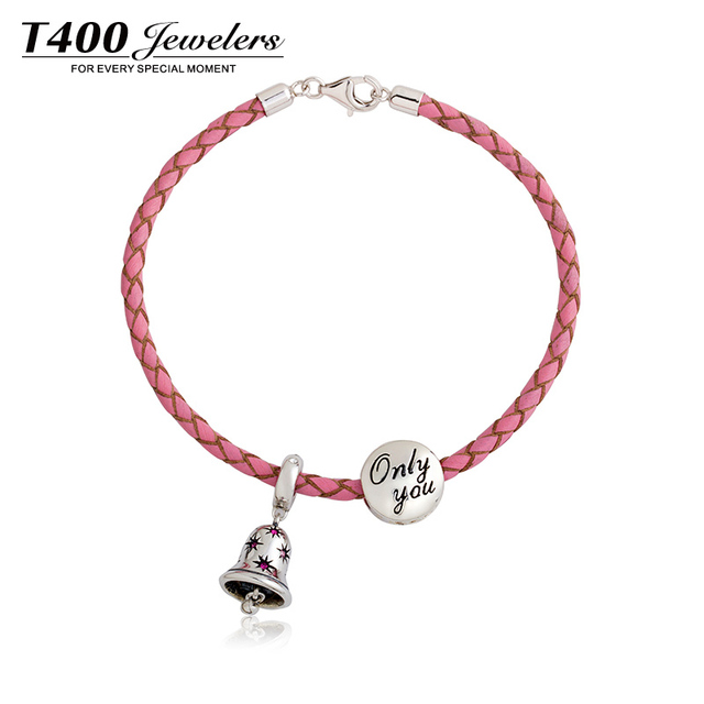 T400 Made With Swarovski Elements 925 Sterling Silver Hallmark Charm Bracelet Fit