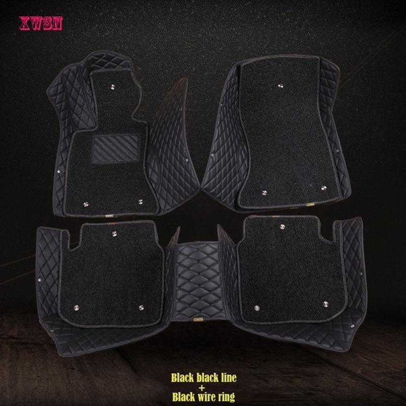 XWSN custom car floor mats for peugeot 307 sw 308 107 206 207 301 407 408