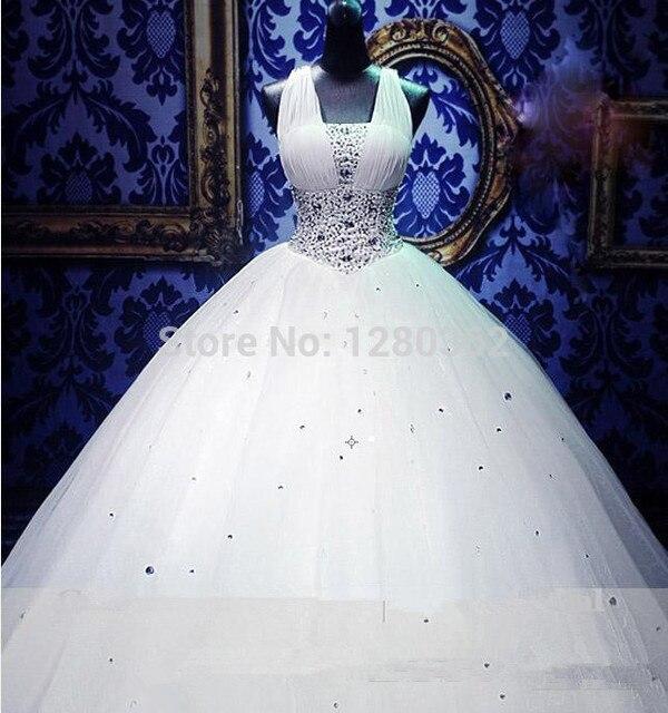 New Elegant Luxury Beading Wedding Dress 2018 Ball Gown Chiffon ...