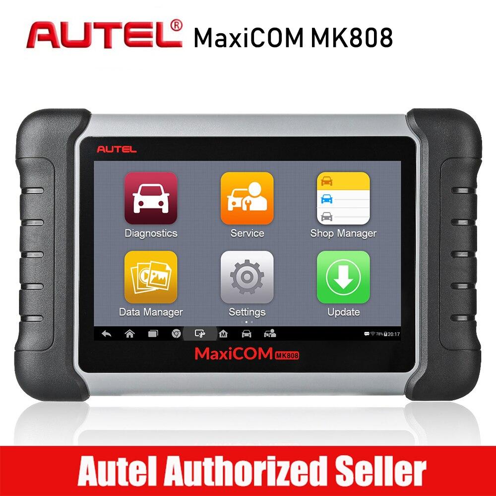 Autel MaxiCom MK808 автомобильный диагностический сканер двигателя автомобиля инструмент анализа все Системы масла сброса EPB DPF TPMS Ключевые програм...