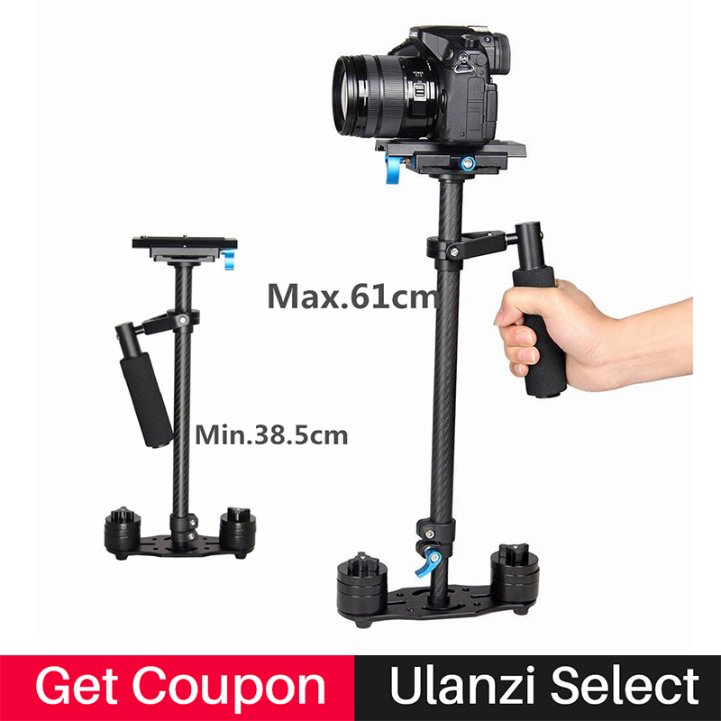 Ulanzi S60T 60cm Carbon Fiber Steadicam Handheld Steadycam Camera Stabilizer Holder Video Steady cam for Canon Nikon Sony DSLR handheld camcorder stabilizer s60t carbon fiber steady stabilizer for canon professional camera stable device