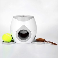 Pet Interactive Tennis Ball Automatic Throwing Fetch Machine And Food Dispenser This Is A Good Helper To Train Your Dogs