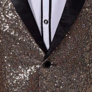 Image 5 - Pyjtrl Nam Slim Fit Áo Khoác Thời Trang Vàng Xanh Dương Bạc Đỏ Đầm Áo Nam Giai Đoạn Mặc Áo Thiết Kế Trang Phục Cho ca Sĩ