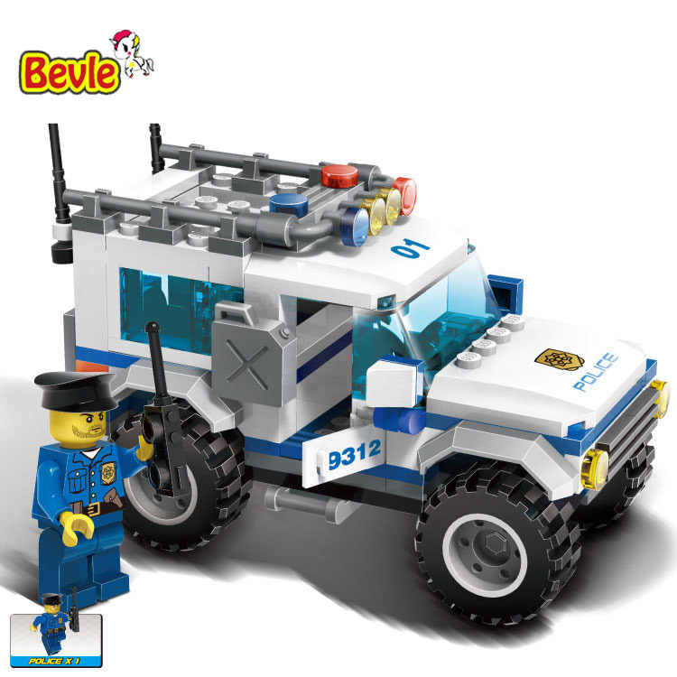 Gudi 9312 163Pcs City Police Series Police Chase SUV Figures Model Building Blocks Compatible with Legoe City Toys gudi city international airport
