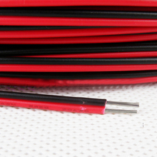 1 meter Electrical Wire Red Black Tinned Copper 2 Pin 22AWG insulated PVC Extension LED Strip Electronic Cable Wire DIY Connect