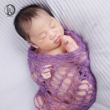 Acrylic Fabric 60x30cm (2pcs/lot) Newborn baby Wraps mix colors Newborn photography props mohair wrap