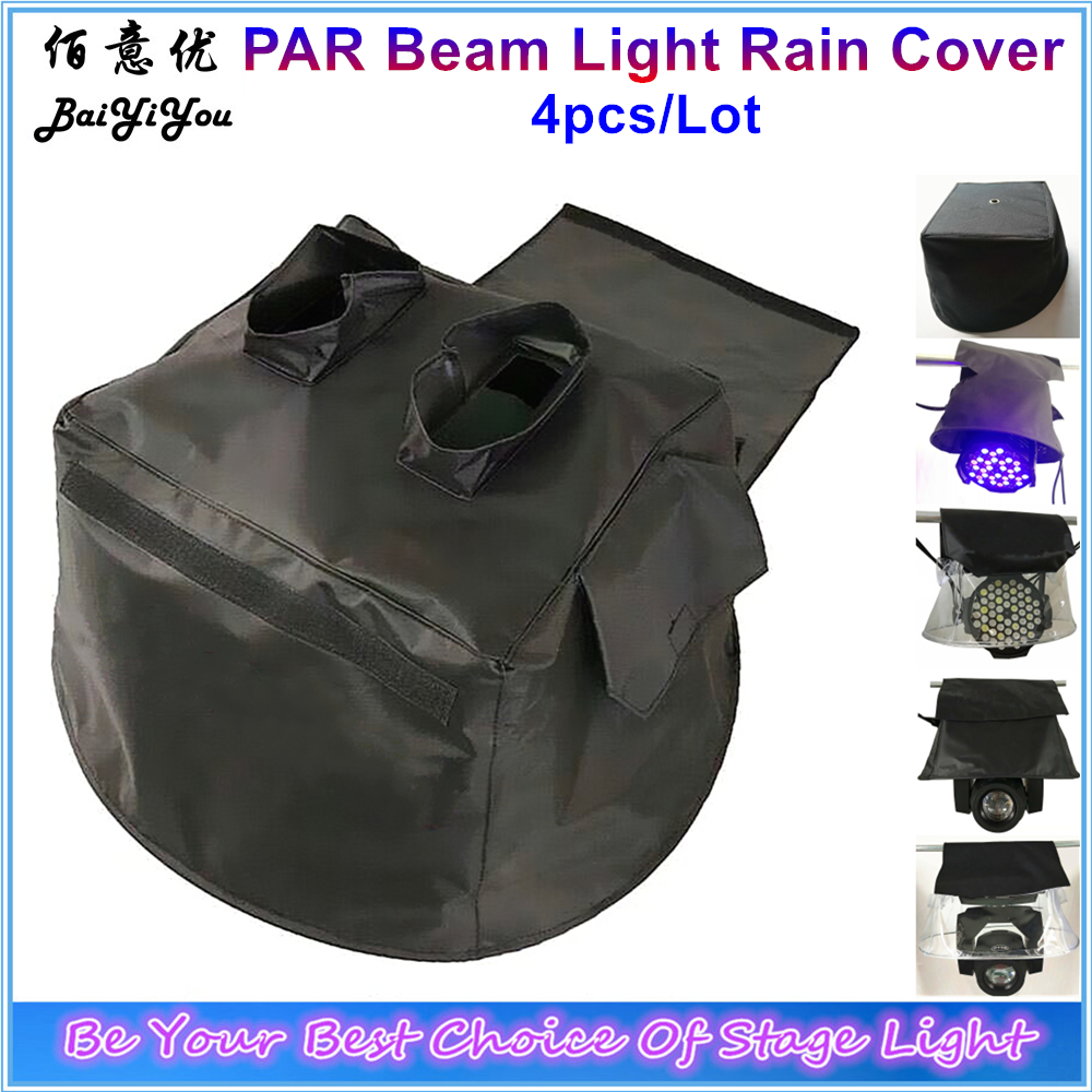 4pcs Lot Good Quality PAR Moving Head Beam 5R 7R 15R Stage Light Rain Cover Black