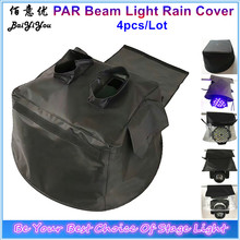 4pcs/Lot Good Quality PAR Moving Head Beam 5R 7R 15R Stage Light Rain Cover Black Cover With Transparent Plastic(China)