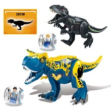 Legoings Jurassic World Park Tyrannosaurus Rex Building Blocks Jurassic Dinosaur Figures Bricks Toys Collection Toy BKX37 10 in 1 jurassic dinosaurs legoings tyrannosaurus rex movie sets models building blocks bricks toys world of park figures bkx101