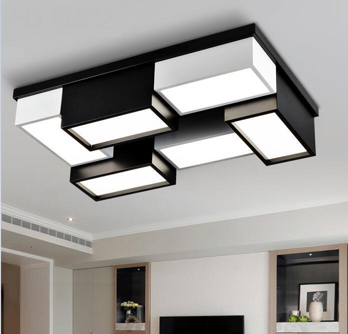Us 2850 Nowoczesne Biuro Oświetlenie Led Lampy Sufitowe Atmosfera Domu Osobowość Twórcza Geometryczne Prostokątne Lampy Oświetlenie Za Bg2 W