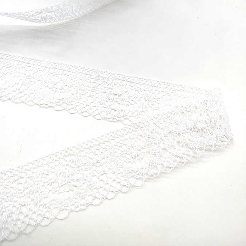 10 Yards de haute qualité belle ruban de dentelle noire 40MM dentelle garniture bricolage brodé pour la décoration de couture tissu de dentelle africaine