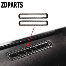 ZDPARTS 2PCS/SET Carbon Fiber Sticker Trim For Ford Mustang 2015 16 17 GT500 GT 350 Door Window lift Switch Panel Speaker Outlet