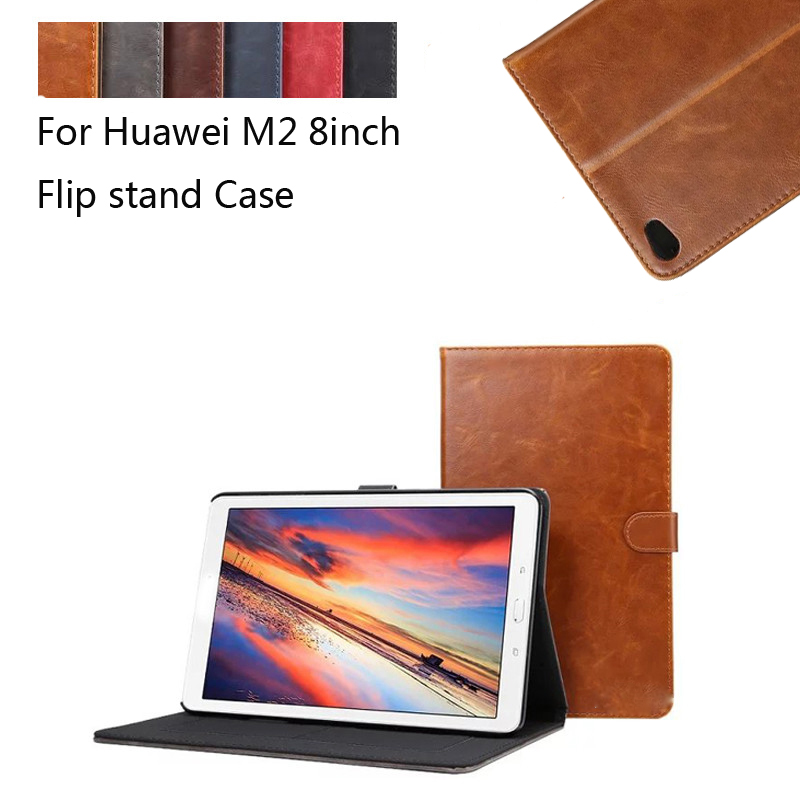 For Huawei MediaPad M2 M2-801W M2-803L Huawei M2 8.0 Retro Wallet Leather Case With Stand Holder Card Magnetic Tablet Cases