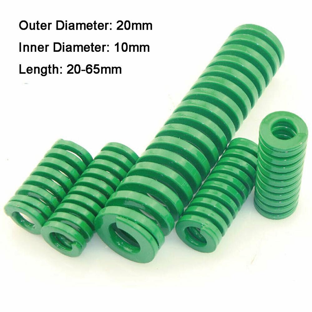 1 шт. пружинная штампованная компрессионная форма для штамповки с большой нагрузкой, Зеленый Внешний диаметр 20 мм, внутренний диаметр 10 мм, д...