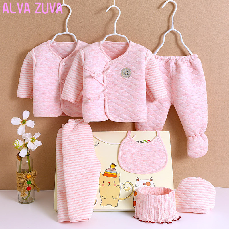 Alva Zuva 100 Cotton Infant Baby Clothes Thick Newborn Gift Box Sets