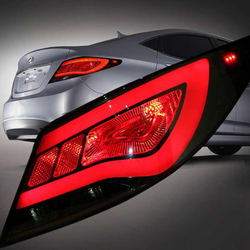 Red Lens Tail Lamp For Hyundai Accent Solaris Verna 2017 Led Lights Smoked