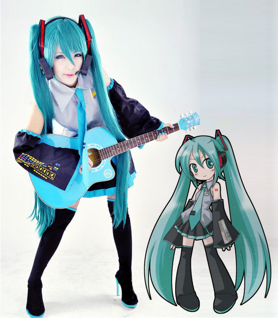 Vocaloid Hatsune Miku Cosplay Costume Clothes Theatrical Costume Halloween costume Top+skirts+vest+tie+2 Gauntlets free shipping & Online Shop Vocaloid Hatsune Miku Cosplay Costume Clothes Theatrical ...
