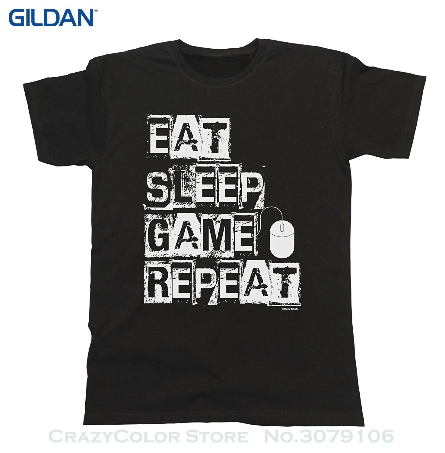 Men T-shirt Men Clothing Eat Sleep Game Repeat Pc Mouse T-shirt Mens Ladies Unisex Fit