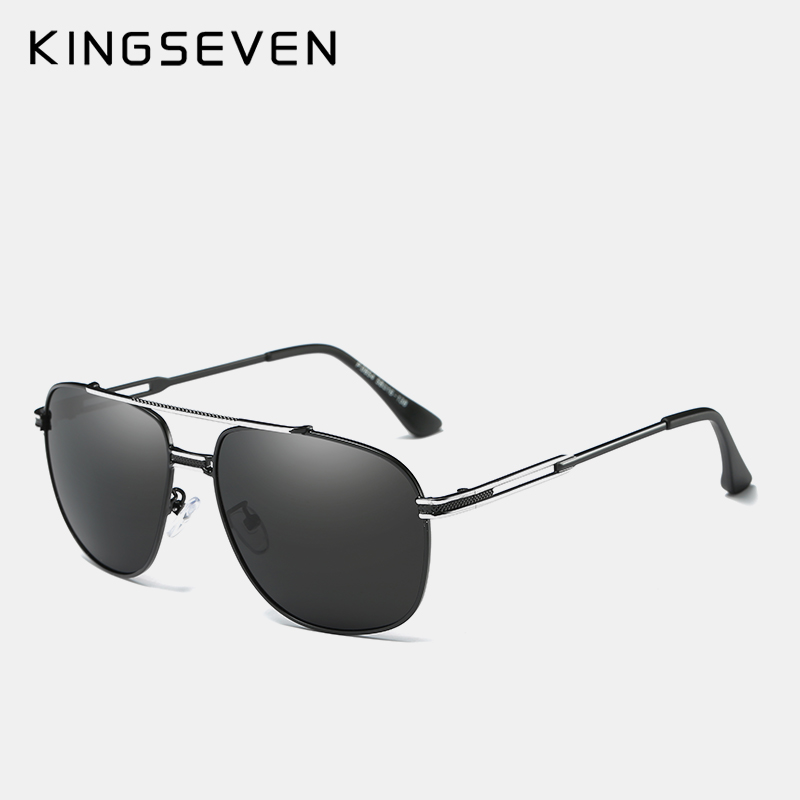 KINGSEVEN Brand Classic Polarized Sunglasses Men Driving Alloy Frame - Apparel Accessories - Photo 3