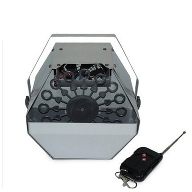 Remote Control Automatic Mini Stage Effect Bubble Blower Machine Wedding DJ Event Bubble Maker Machine