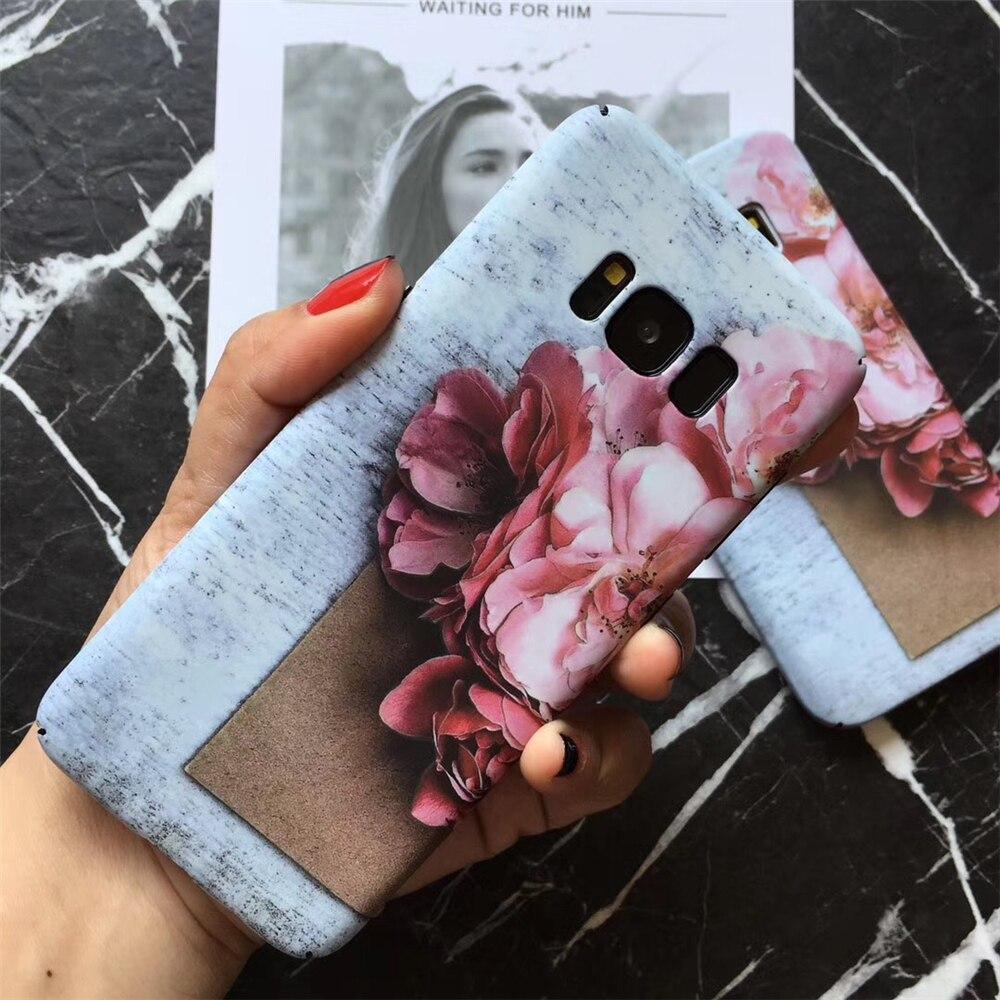Female Models Pink Cherry Blossoms Flower <font><b>Phone</b></font> <font><b>Cases</b></font> For <font><b>Samsung</b></font> <font><b>Galaxy</b></font> S7 <font><b>S8</b></font> S8Plus Note8 <font><b>Case</b></font> All-enclosed Hard PC Back Cover