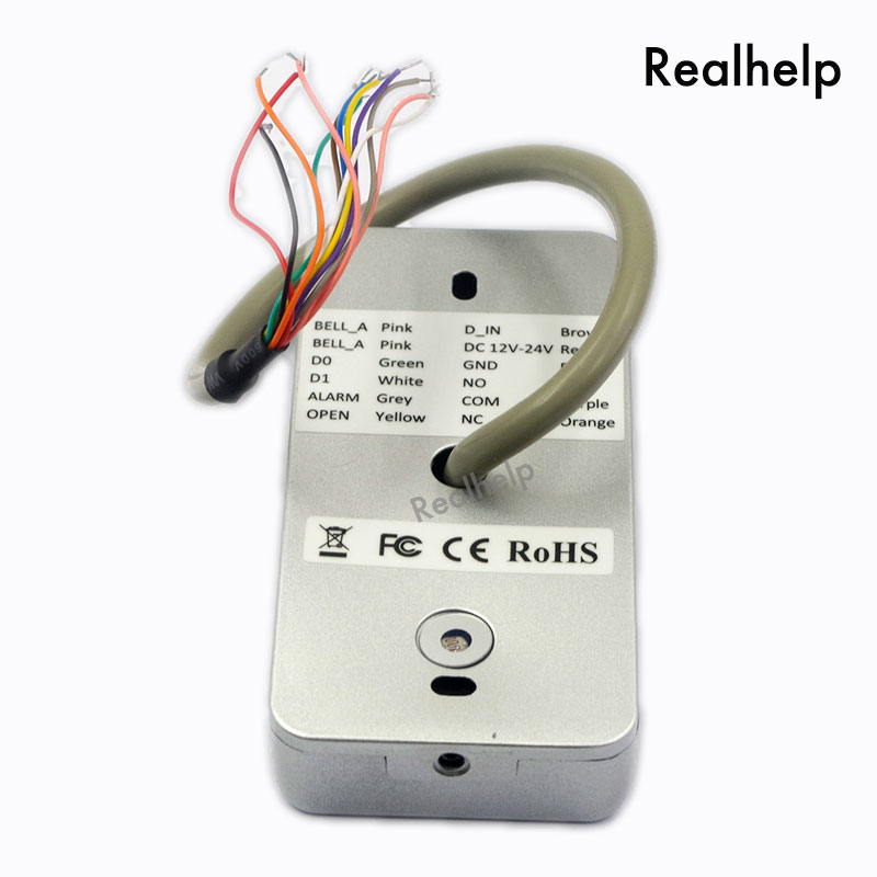 2000Users Metal Stainless steel RFID Access Control Keypad IP68 Waterproof Outdoors card Reader security 12V/24V DC and AC