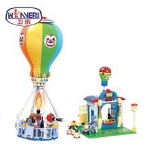 Friends Series City Modern Paradise Series Hot Air Balloon Building Blocks Educational Toys Bricks Gifts Compatible Legoes paradise city