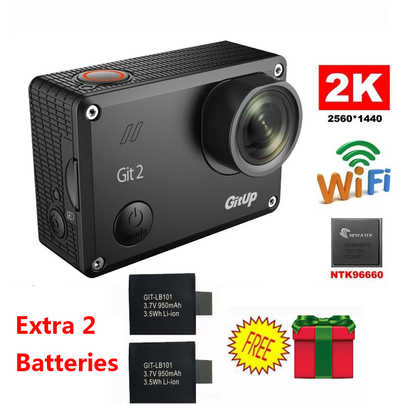 El envío gratuito! gitup git2 novatek 96660 1080 p wifi 2 k cámara de acción dep