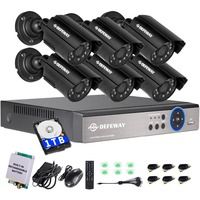 DEFEWAY 720P HD 1200TVL Outdoor Security Camera System 1080P HDMI CCTV Video Surveillance 8CH DVR With