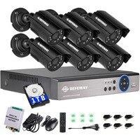 DEFEWAY 720P HD 1200TVL Outdoor Security Camera System 1080P HDMI CCTV Video Surveillance 8CH DVR With