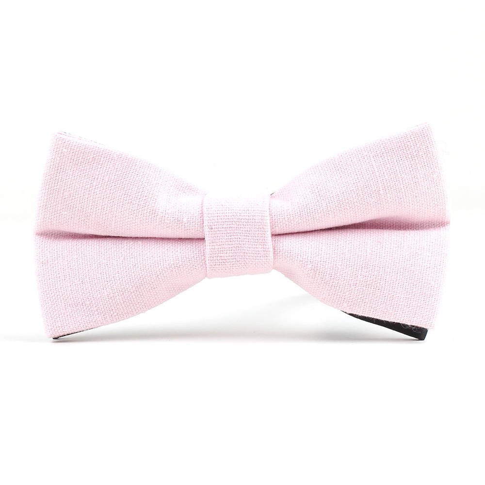 Blush Pink Childrens Kids Cotton Skinny Ties for Son Wedding Neckties for Child Tie for Boy