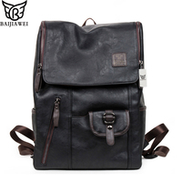 Hot Sale Genuine Leather Backpacks Western Style Fashion Bag For Men Outdoor Travel Mochila Zip Casual