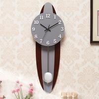 Antique Wooden Pendulum Clock Wall Modern Design Large Silent Living Room Unique Watch Saat Reloj Large Decorative Wall Clocks58