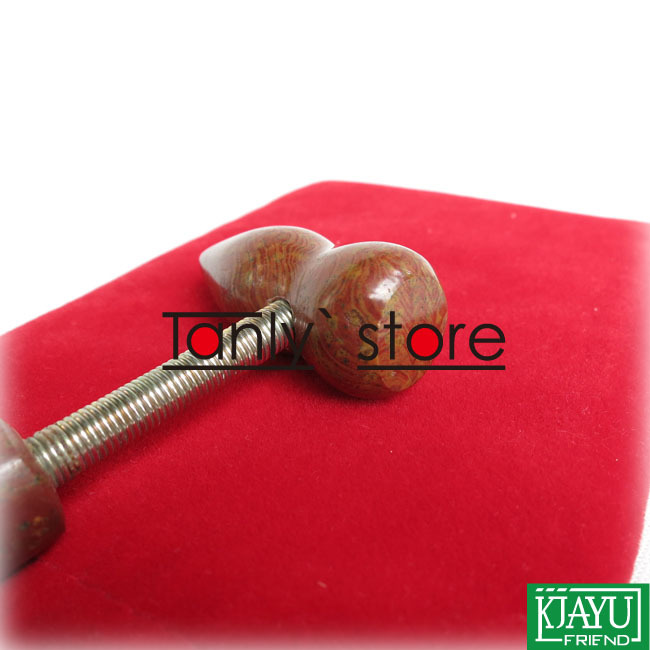 Wholesale and Retail Traditional Acupuncture Massage Tool Natural Bian stone Healing 143mm 50mm Meridian hammer in Massage Relaxation from Beauty Health