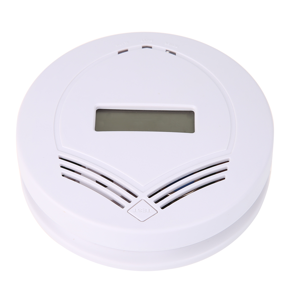 LCD Digital Home Safety CO Carbon Monoxide Poisoning Smoke Gas Sensor Automatic Warning Alarm Detector Kitchen (US)FULI