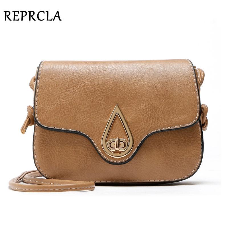 REPRCLA гарна якість Vintage жіноча сумка PU шкіра невеликі сумки на плечах Crossbody дизайнер жінок Messenger сумки леді сумки